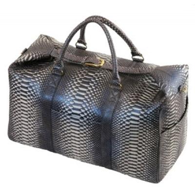 Багажная женская сумка из Кожи питона Alanda 23160, модель: 004-246-pyt.