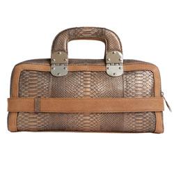 Женская сумка из кожи питона.