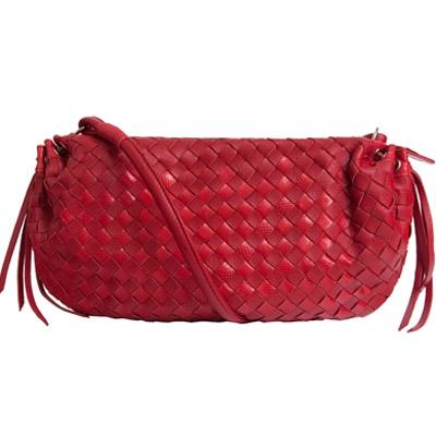 Женская сумка из кожи змеи карунг.