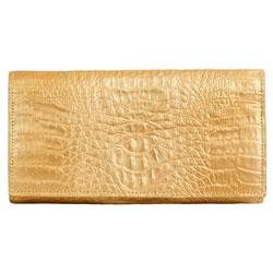 Классический женский кошелек из кожи питона.