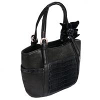Женская сумка-кожа крокодила.