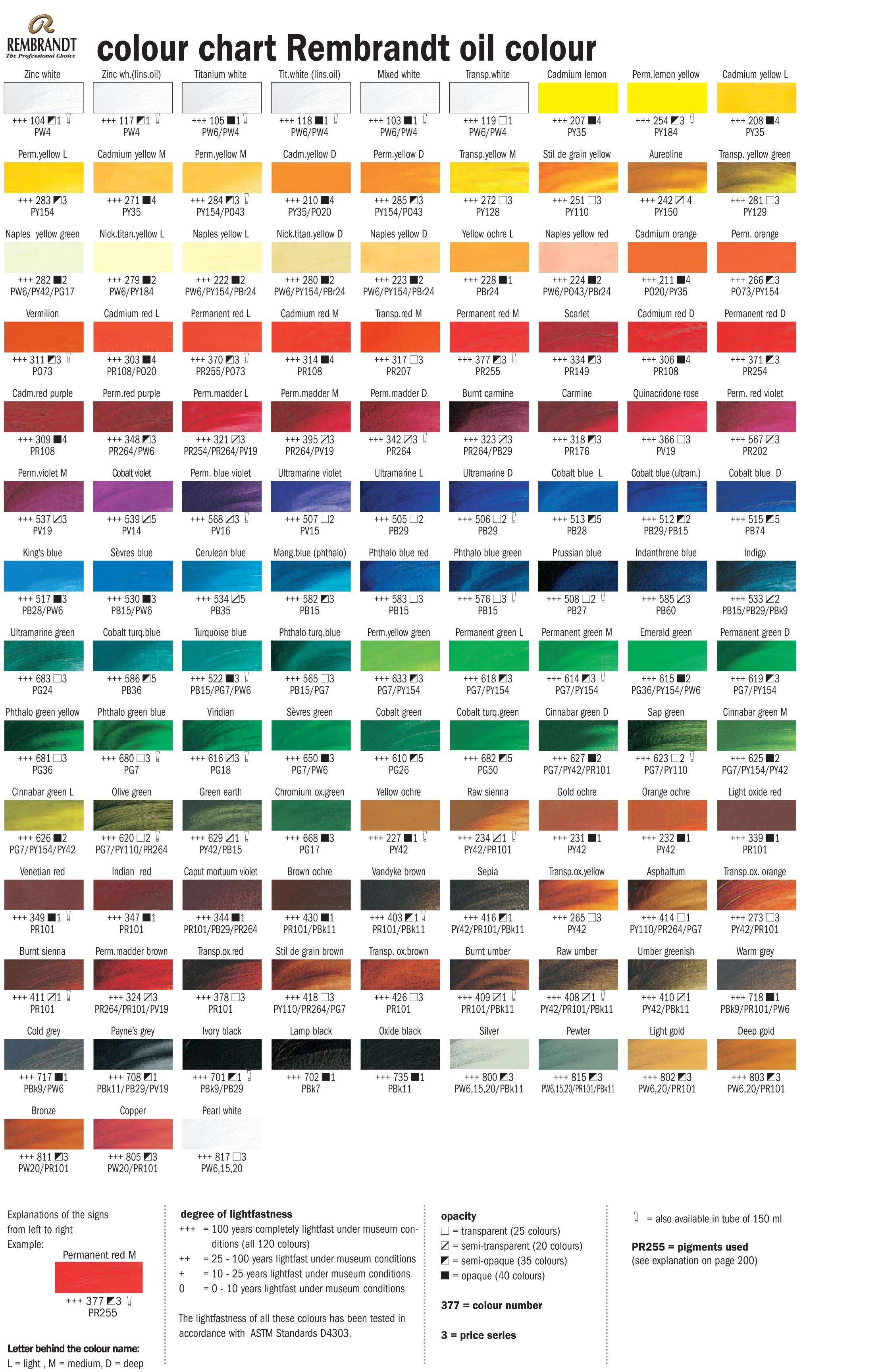Название цветов красок в картинках